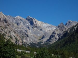 Font Sancte mountain range, Ubaye Valley, France