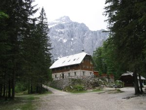 Jakob Aljaž's hut in Vrata Valley, Slovenia