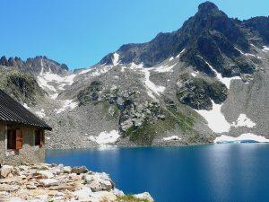 Questa mountain hut, Lago delle Portette Lake, Italy