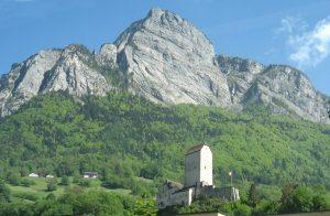 Sargans Castle and Gonzen mountain