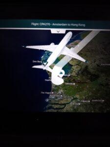 20191206_131830 Flugzeug - Entertainment centre - Landkarte - Die Niederlande