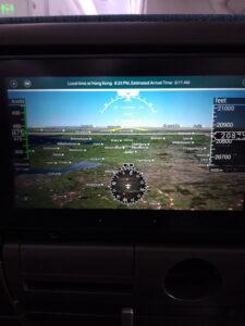 20191206_132354 Flugzeug - Entertainment centre - Landkarte - Die Niederlande - Deutschland