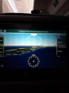 20191207_170749 -Flugzeug - Unterhaltungsschirm - Neuseeland
