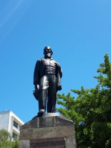 20191209_125455 - Neuseeland - Christchurch - Statue - Erster Superintendant von Canterbury (NZ) - James Edward Fitzgerald