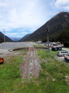 20191210_135837 - Neuseeland - TranzAlpine Bahn - Arthur's Pass Village - Arthur's Pass Bahnhof - Drehscheibe für Lokomotiven