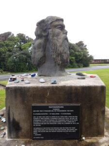 20191217_113915 - Hokitika - Seaview - Maori-Geschichte - Maori-Denkmal