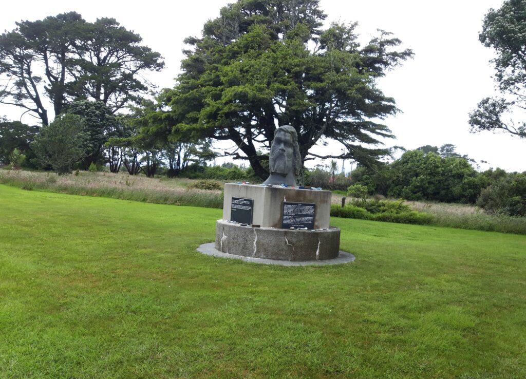 20191217_114129 (2) - Neuseeland - Westcoast - Hokitika - Seaview - Maori-Geschichte - Maori-Denkmal