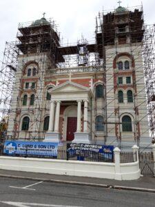 20191219_100117 - Neuseeland - Canterbury - Timaru - Sacred Heart Basilica - Kirche - Umbau - Erdbeben