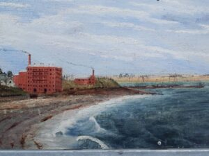 "20191219_113925 - Neuseeland - Canterbury - Timaru - Patiti Point Reserve - Gemälde - ""Timaru Coastline"" - John Liddington Higgs (1864-1919)"