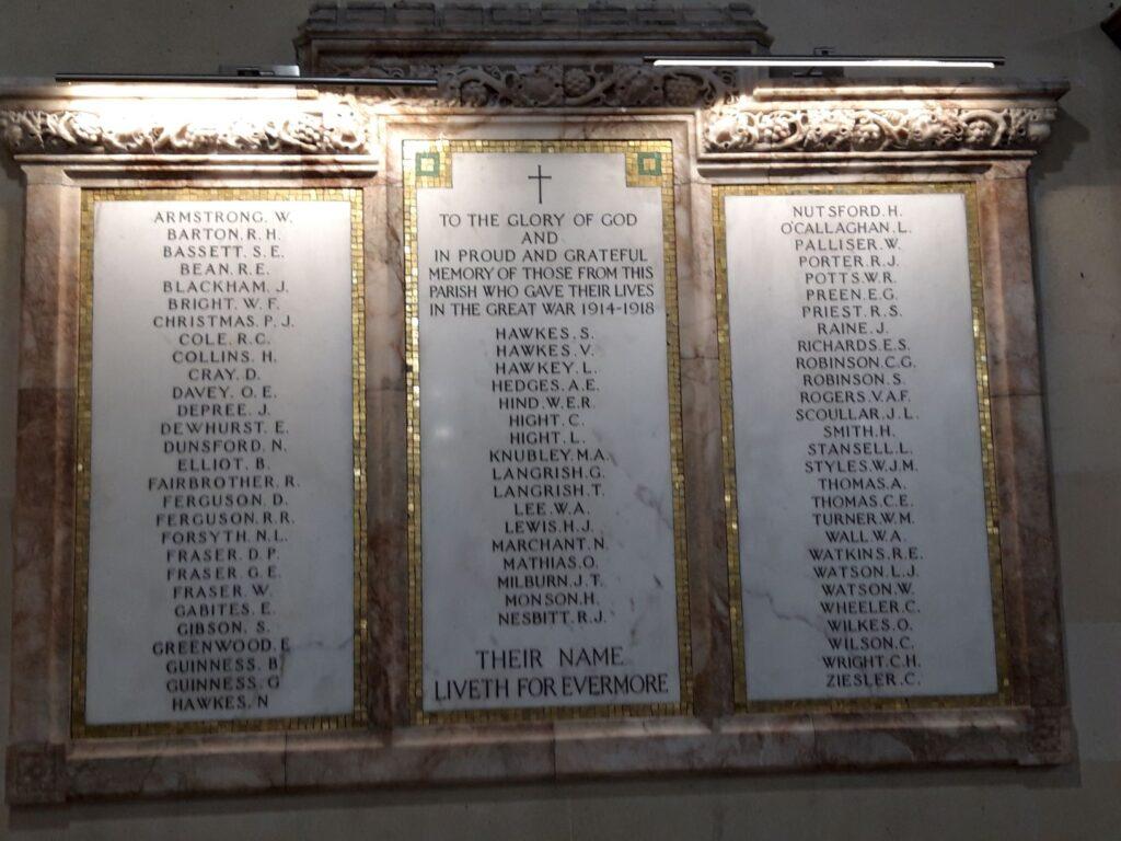 20191219_141852 - Neuseeland - Canterbury - Timaru - Anglikanische Kirche - St. Mary's Church - Denkmal - Erster Weltkrieg