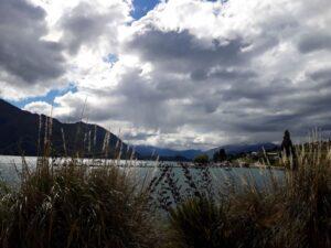 20191220_170443 - Neuseeland - Otago - Wanaka - Wanaka See - Sonne und Wolken