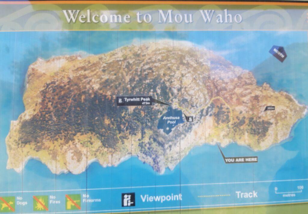 20191221_140404 (2) - Neuseeland - Otago - Wanaka - Wanaka See - Mou Waho Insel - Landkarte - Naturschutz