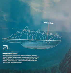 """20191225_131148 (2) - Neuseeland - Fiordland - Te Anau (NZ) - Milford Sound - Unterwasserobservatorium - """"""""Underwater Observatory - Harrison's Cove Bucht"""