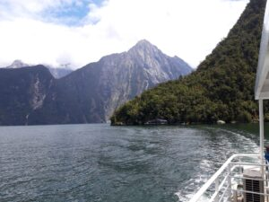 """20191225_140134 - Neuseeland - Fiordland - Te Anau (NZ) - Milford Sound - Unterwasseroservatorium - """"Underwater Observatory"""" - Harrison's Cove Bucht"""