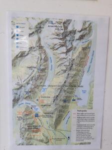 20191226_163527 - Neuseeland - Canterbury (NZ) - Mount Cook Village (NZ) - Besucherzentrum des Aoraki/Mt. Cook National Parks - Landkarte - Wanderwege