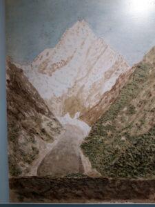 20191227_130221 - Neuseeland - Canterbury (NZ) - Mount Cook Village (NZ) - Besucherzentrum des Aoraki/Mt. Cook National Parks - Mt. Cook in der Kunst - Aquarell - Julius von Haast ( 1822-1887) - Hooker Gletscher