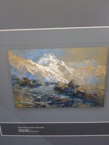 20191227_130938 - Neuseeland - Canterbury (NZ) - Mount Cook Village (NZ) - Besucherzentrum des Aoraki/Mt. Cook National Park - Mt. Sefton in der Kunst) - Gemälde - Esther Hope (1885-1975)